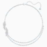 Nice Necklace, White, Rhodium plated - Swarovski, 5493404