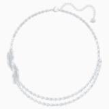 Nice Kolye, Beyaz, Rodyum kaplama - Swarovski, 5493404