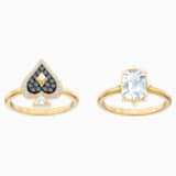 Tarot Magic Ring Set, Multi-coloured, Gold-tone plated - Swarovski, 5494018