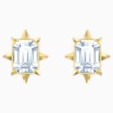 Kolczyki sztyftowe Tarot Magic, białe, w odcieniu złota - Swarovski, 5494019
