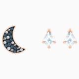 Swarovski Symbolic Pierced Earrings set, Multi-colored, Rose-gold tone plated - Swarovski, 5494353