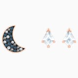 Swarovski Symbolic Pierced Earrings set, Multi-coloured, Rose-gold tone plated - Swarovski, 5494353