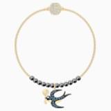 Swarovski Remix Collection Swallow Strand, Cok Renkli, Altın rengi kaplama - Swarovski, 5494381