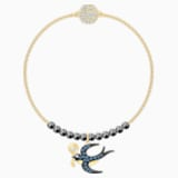 Swarovski Remix Collection Swallow Strand, Multi-colored, Gold-tone plated - Swarovski, 5494381