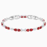 Louison Bracelet, Red, Rhodium plated - Swarovski, 5495264
