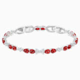 Louison Bracelet, Red, Rhodium plated - Swarovski, 5495264
