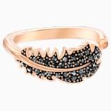 Naughty motívumos gyűrű, fekete, rózsaarany színű bevonattal - Swarovski, 5495296