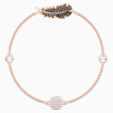 Swarovski Remix Collection Feather Strand, 黑色, 镀玫瑰金色调 - Swarovski, 5495340