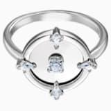 Prsten s motivem North, Bílý, Rhodiem pokovený - Swarovski, 5497233