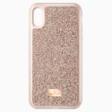 Étui pour smartphone Glam Rock, iPhone® X/XS, Doré rose - Swarovski, 5498749