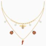 Collar Lisabel, rojo, Baño en tono Oro - Swarovski, 5498807