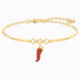 Bracciale rigido Lisabel Pepper, rosso, Placcato oro - Swarovski, 5498810