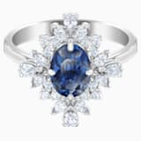 Palace Motif Ring, Blue, Rhodium plated - Swarovski, 5498839