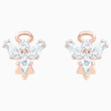 Magic Angel Stud Pierced Earrings, White, Rose-gold tone plated - Swarovski, 5498971
