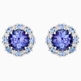心之绽放18K金坦桑石蓝宝石钻石耳环 - Swarovski, 5499779