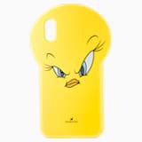 Pouzdro na chytrý telefon s Tweetym, Looney Tunes, iPhone® X/XS, žluté - Swarovski, 5499820
