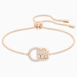 Bracelet Further, blanc, Métal doré rose - Swarovski, 5501092