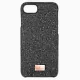 High Smartphone Case with integrated Bumper, iPhone® 8, Black - Swarovski, 5503534