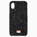 High okostelefon tok beépített ütéselnyelővel, iPhone® X/XS, fekete - Swarovski, 5503550