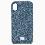 High Чехол для смартфона с противоударной защитой, iPhone® X/XS, Синий Кристалл - Swarovski, 5503551