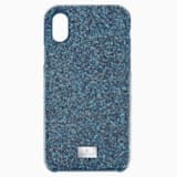 High Smartphone Case with integrated Bumper, iPhone® X/XS, Blue - Swarovski, 5503551
