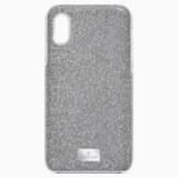Custodia per smartphone con bordi protettivi integrati High, iPhone® X/XS, tono argentato - Swarovski, 5503552