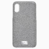 High-smartphone-hoesje met geïntegreerde Bumper, iPhone® X/XS, zilverkleurig - Swarovski, 5503552