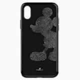 Custodia per smartphone con bordi protettivi integrati Mickey Body, iPhone® X/XS, nero - Swarovski, 5503553