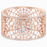 Precisely Cuff, White, Rose-gold tone plated - Swarovski, 5503825
