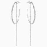 Τρυπητά σκουλαρίκια Fit Hoop, Λευκά, ανοξείδωτο ατσάλι - Swarovski, 5504570