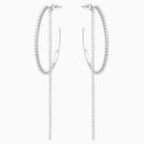 Fit 穿孔耳环, 白色, 不锈钢 - Swarovski, 5504570