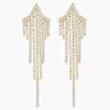 Boucles d'oreilles Tassell Fit Star, blanc, Métal doré - Swarovski, 5504571