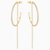 Τρυπητά σκουλαρίκια κρίκοι Fit, λευκά, επιχρυσωμένα σε χρυσή απόχρωση - Swarovski, 5504573