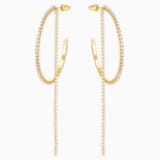 Fit 穿孔耳環, 白色, 鍍金色色調 - Swarovski, 5504573