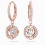 Swarovski Sparkling Dance 穿孔耳環, 白色, 鍍玫瑰金色調 - Swarovski, 5504753