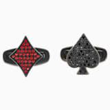 Gemelli Unisex Tarot Magic, rosso, Placcatura in PVD nero - Swarovski, 5504779