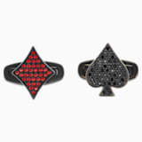 Unisex Tarot Magic Cufflinks, Red, Black PVD - Swarovski, 5504779
