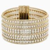 Fit Широкий браслет, Белый Кристалл, Покрытие оттенка золота - Swarovski, 5505333