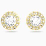 Angelic Stud Pierced Earrings, White, Gold-tone plated - Swarovski, 5505470