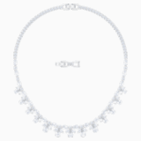 Palace Necklace, White, Rhodium plated - Swarovski, 5505495
