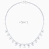 Collar Palace, blanco, Baño de Rodio - Swarovski, 5505495
