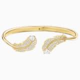 Nákotník Nice, Bílý, Pozlacený růžovým zlatem - Swarovski, 5505622