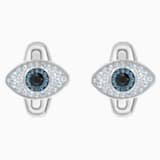 Unisex Evil Eye Manschettenknöpfe, mehrfarbig, Edelstahl - Swarovski, 5506081