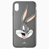 Etui na smartfona Looney Tunes z Królikiem Bugsem, iPhone® XS Max, szare - Swarovski, 5506303