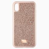 Étui pour smartphone Glam Rock, iPhone® XS Max, Doré rose - Swarovski, 5506307