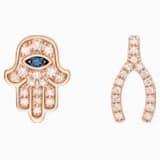幸运之光玫瑰金红蓝宝石钻石耳环 - Swarovski, 5506563