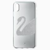 Swan Smartphone Case, iPhone® XS Max, Gray - Swarovski, 5507383