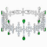 Bracelet Perfection, vert, Métal rhodié - Swarovski, 5507695