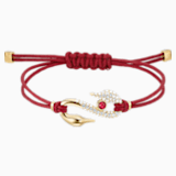 Bracelet Swarovski Power Collection Hook, rouge, Métal doré - Swarovski, 5508530