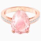 Vintage koktélgyűrű, rózsaszín, rózsaarany tónusú bevonattal - Swarovski, 5509670